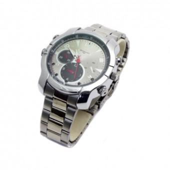 Mini Gadgets NIGHTWATCHSILVER4GB Silver Watch Camera/DVR with Night Vision, 4GB