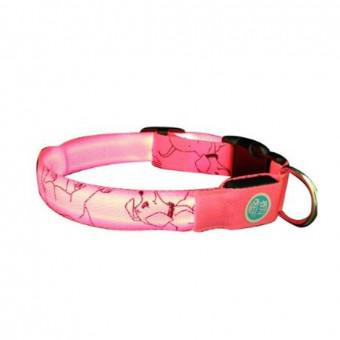 Lava Electronics LC-9 P S QPets LED Safety Dog Collar for Small Dogs, Pink